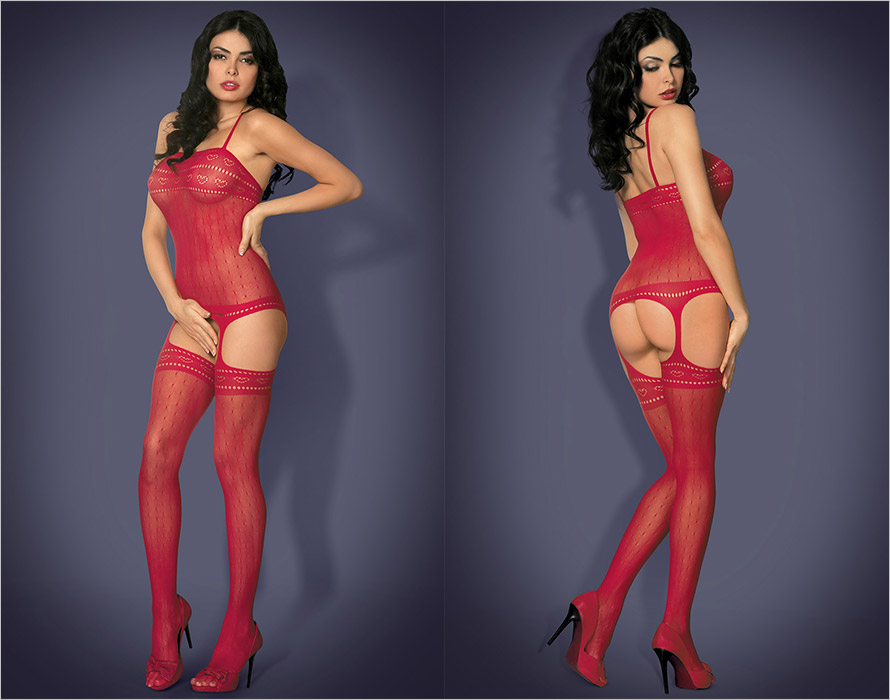 Obsessive Bodystocking G303 - Rouge (S/M)