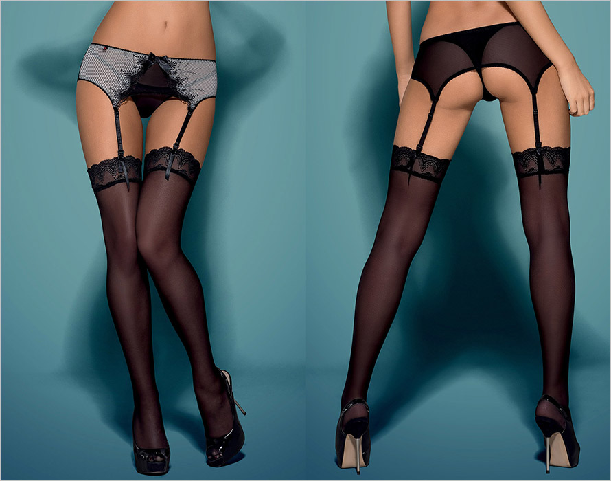 Obsessive Greyla Stockings - Black (L/XL)