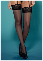 Obsessive Kisselent Stockings - Black (L/XL)