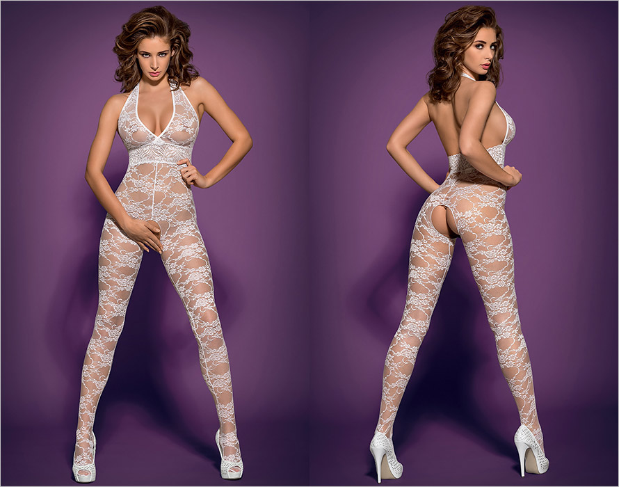 Obsessive Bodystocking L400 - White (L/XL)