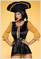 Obsessive Costume de Pirate - Noir (L/XL)