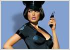Obsessive Police Sexy Policewoman Costume - 4 pces (S/M)