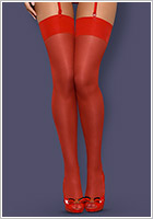 Obsessive S800 Sexy Stockings - Red (S/M)