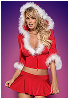 Obsessive Santa Lady Skirty Set Weihnachts-Kostüm (L/XL)