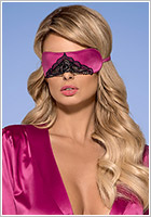 Masque en satin Obsessive Satinia - Rose