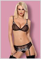 Obsessive 840 Set with Garter Belt - Black (L/XL)