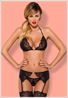 Obsessive Charmea Set - Black (L/XL)