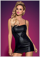 Obsessive Stingy Dress & Thong - Black (L/XL)