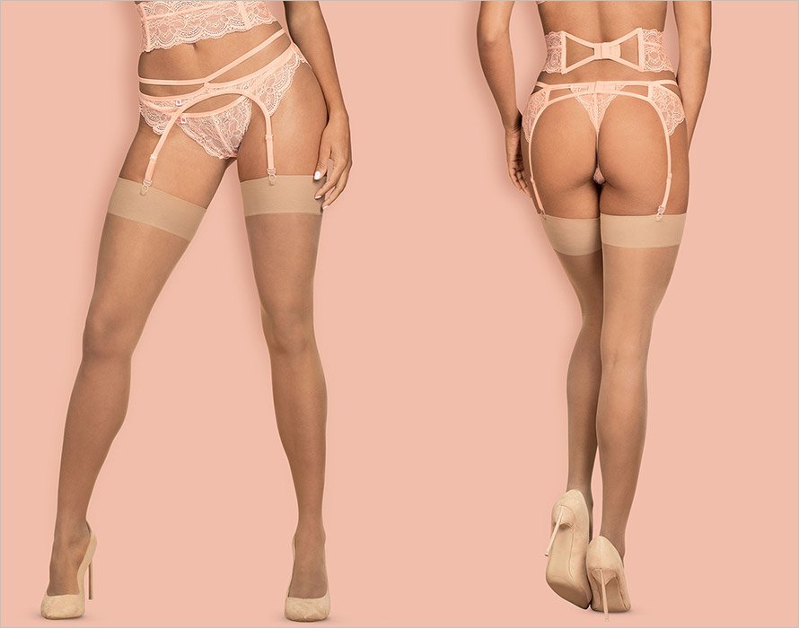 Obsessive S800 Sexy Stockings - Nude (S/M)