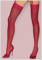 Obsessive S800 sexy stockings - Ruby red (S/M)