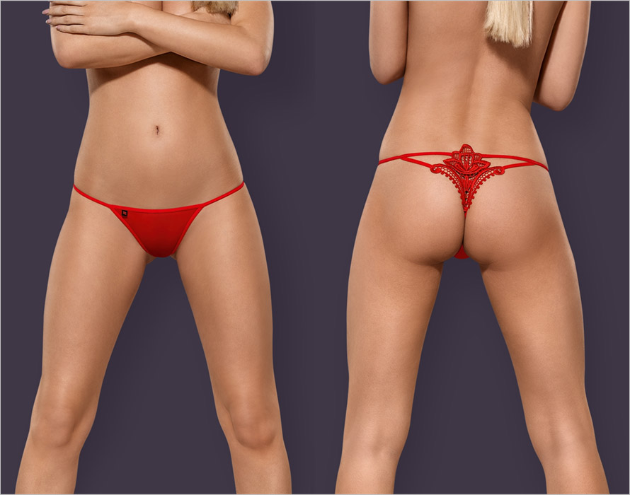 Obsessive Luiza Thong - Red (L/XL)