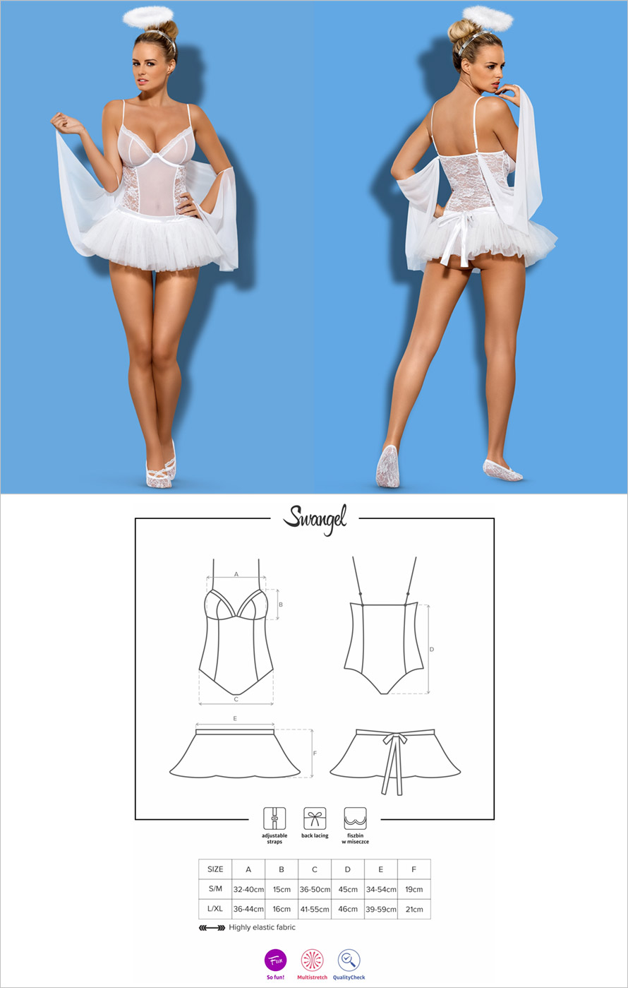 Obsessive Swangel angel outfit - White (L/XL)