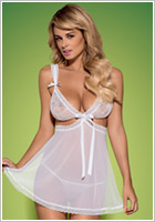Obsessive Swanita Babydoll & String - Weiss (S/M)