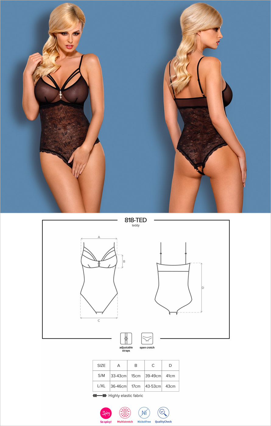 Obsessive 818-TED-1 Body - Black (S/M)