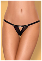 Obsessive 812 crotchless Thong - Black (S/M)