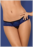 Obsessive 850 Thong - Blue & black (L/XL)