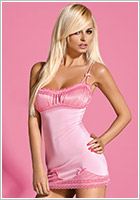 Obsessive Nuisette & String Barbiella - Rose (L/XL)