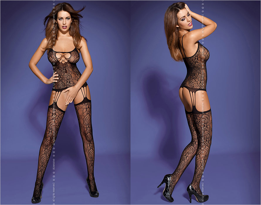 Obsessive Bodystocking F208 - Black (XL/XXL)