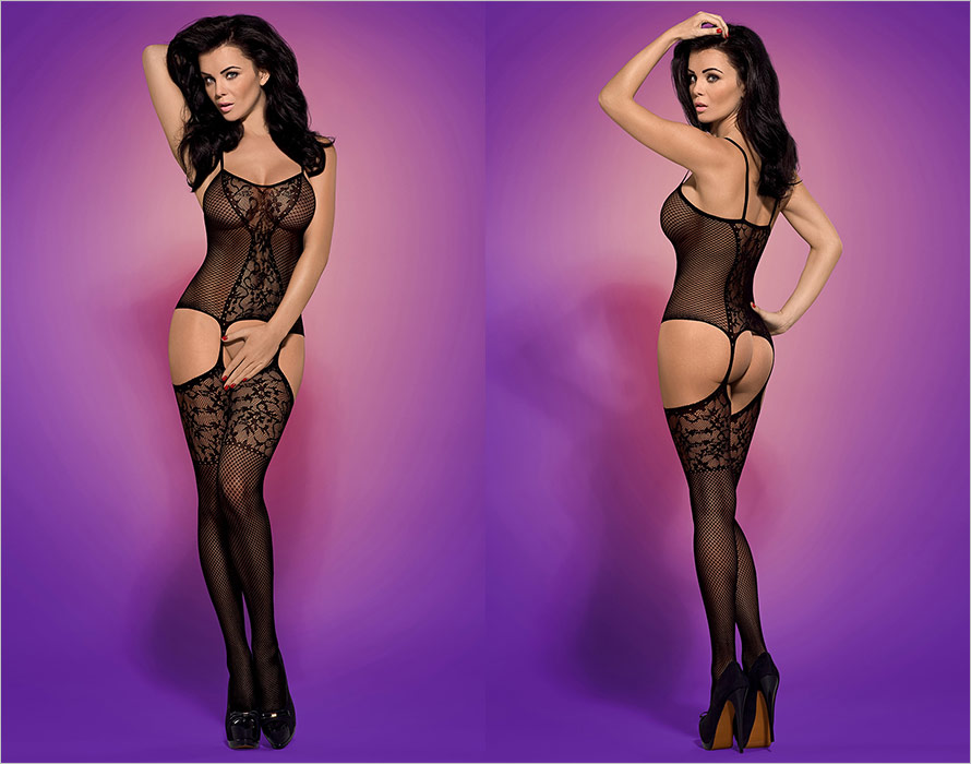 Obsessive Bodystocking F211 - Black (XL/XXL)