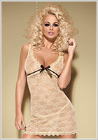 Obsessive Nuisette & String Caramella - Caramel (L/XL)