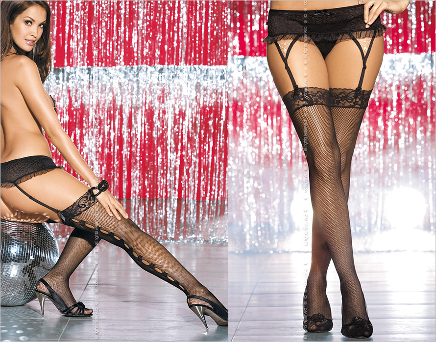 Obsessive Catwalk Stockings - Black (S/M/L)