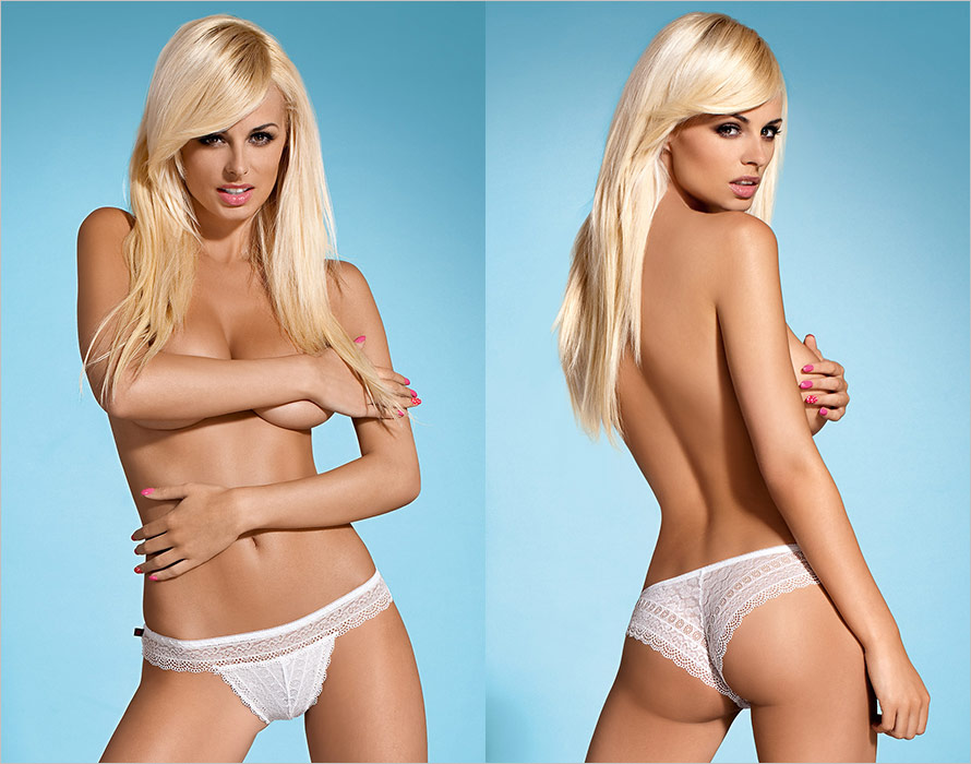 Obsessive Convally Panties - White (L/XL)