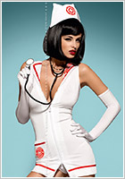 Obsessive Sexy Nurse Emergency Costume (S/M)