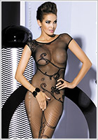Obsessive Bodystocking F201 - Black (S/M)