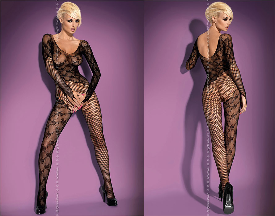 Obsessive Bodystocking F210 - Black (XL/XXL)
