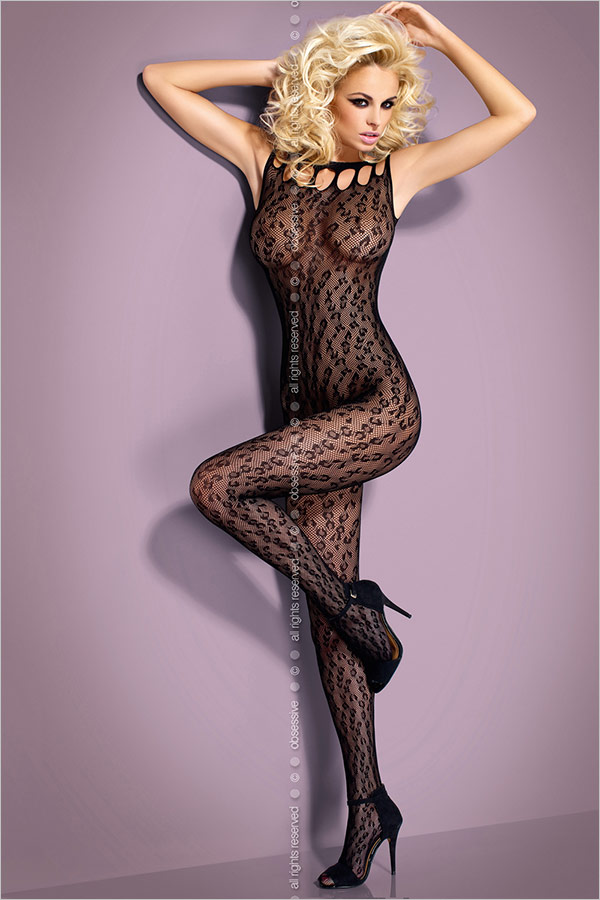 Obsessive Bodystocking G306 - Black (S/M/L)