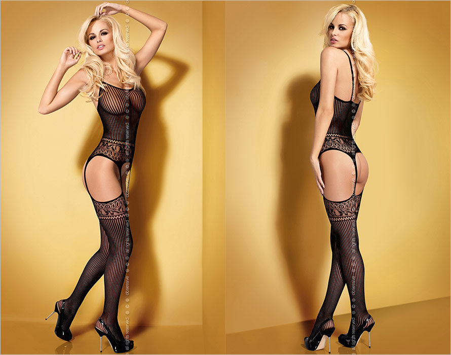 Obsessive Bodystocking G307 - Black (XL/XXL)