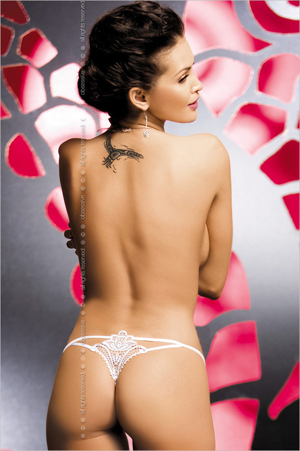 Obsessive Luiza String - Weiss (S/M)