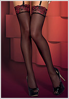 Obsessive Musca Stockings - Black (L/XL)