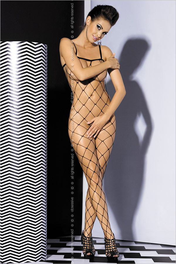 Obsessive Bodystocking N102 - Black (S/M)