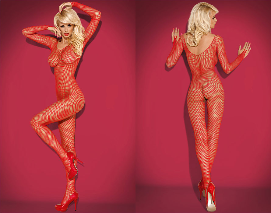 Obsessive Bodystocking N109 - Red (S/M/L)