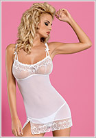 Obsessive Nuisette & String Papilio - Blanc (L/XL)
