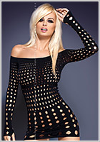 Obsessive Rocker Dress with long sleeves - Black (S/M/L)