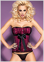 Obsessive Corset & String Rubines - Violet (S/M)