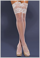 Obsessive S803 Stockings - White (XXL)