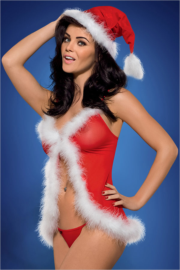 Obsessive Santa's Helper Weihnachts-Babydoll (S/M)