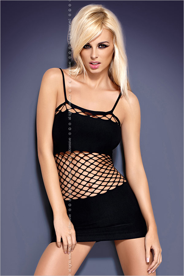 Obsessive Shakira D601 Mini Dress - Black (S/M/L)