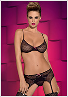 Obsessive Subtelia Set - 3 pcs - Black (L/XL)