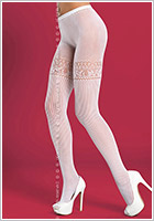 Obsessive T307 Pantyhose - White (S/M)