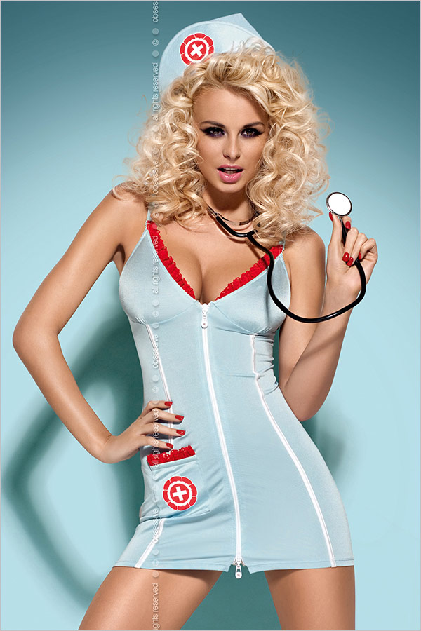 Obsessive Doctor Costume + Stethoscope (L/XL)