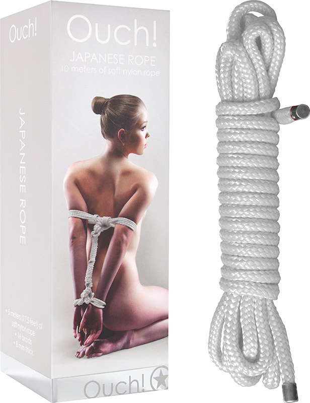 Ouch! Japanisches Bondage-Nylonseil - 10 m - Weiss