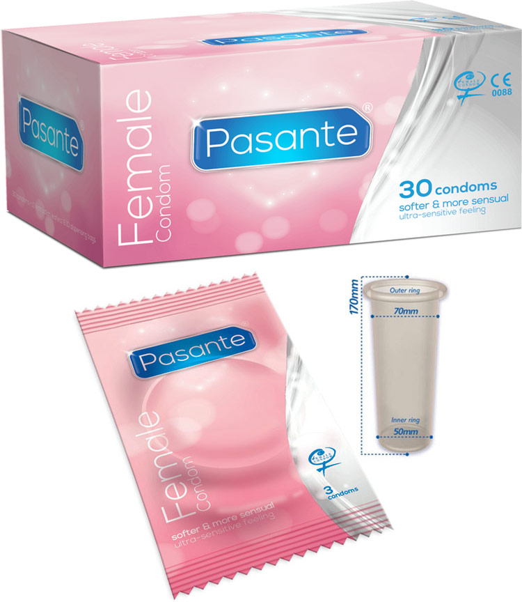 Pasante Female Condom (30 Condoms)