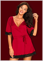 Obsessive Sensuelia Dressing Gown - Red (S/M)