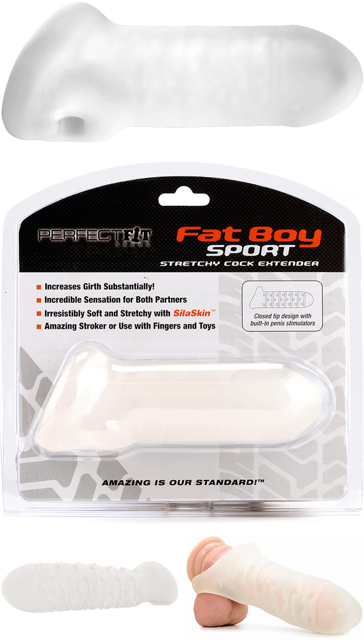 PerfectFit Fat Boy Sport - Cock Extender - Clear