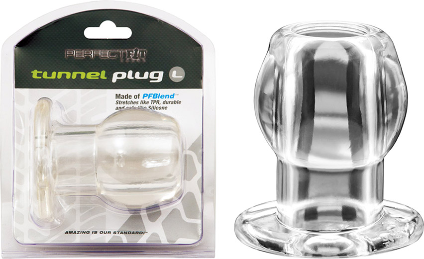 PerfectFit Tunnel Hollow Butt Plug - Clear (Large)