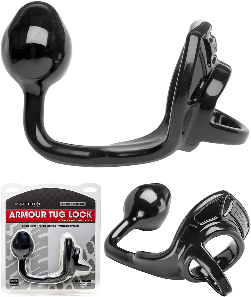 PerfectFit Armour Tug Lock Cockring & Butt Plug